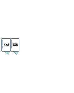 4' X 8' Multiple Standard Full Stall Dog Kennels x2