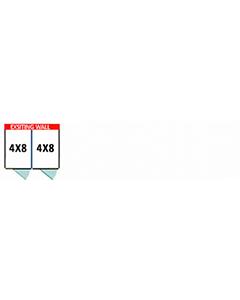 4' X 8' Multiple Vinyl No Back Dog Kennels x2
