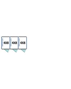 4' X 8' Multiple Standard Full Stall Dog Kennels x3