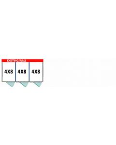 4' X 8' Multiple PRO No Back Dog Kennels x3