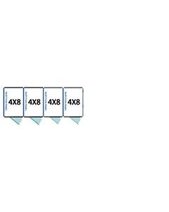 4' X 8' Multiple 7' Tall Full Stall Dog Kennels x4