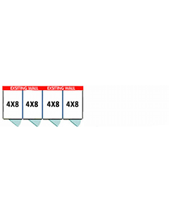 4' X 8' Multiple PRO No Back Dog Kennels x4
