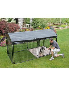 5' X 10' Complete 4' Tall Wire Kennel