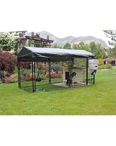5' X 15' Ultimate 4' Tall Dog Kennel