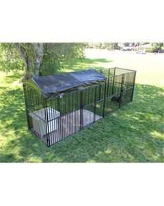 5' x 20' Complete European Style Dog Kennel