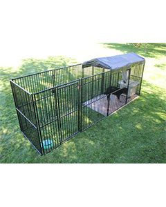 5' X 20' European Ultimate Dog Kennel (Standard)