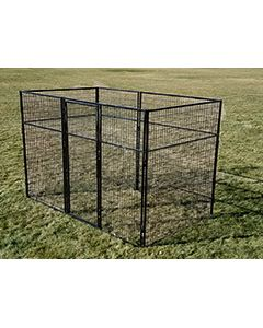 8' X 10' Basic 7' Tall Wire Kennel (Powder-Coated)