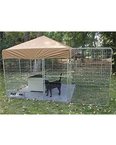 6' X 10' Ultimate Dog Kennel Pro (Galvanized)