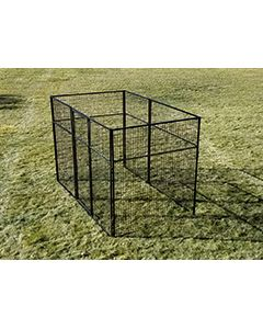 6' X 12' Basic 7' Tall Wire Kennel (Powder-Coated)