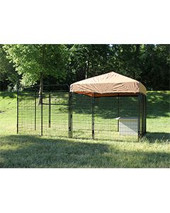 6' X 12' Complete Standard Kennel (Powder-Coated)