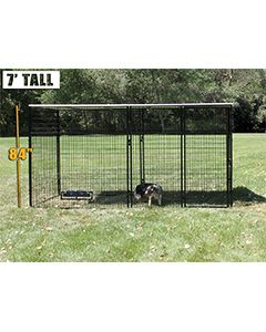 6' X 12' Complete 7' Tall Dog Kennel (Powder-Coated)