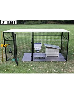 6' X 12' Ultimate 7' Tall Wire Kennel (Powder-Coated)