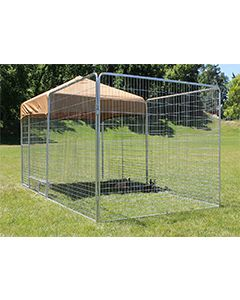 6' X 12' Ultimate Kennel Pro (Galvanized)