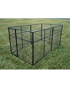 6' X 14' Basic 7' Tall Wire Kennel (Powder-Coated)
