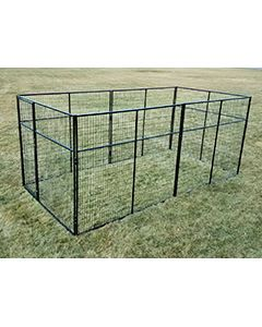 8' X 16' Basic 7' Tall Wire Kennel (Powder-Coated)