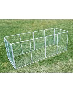 6' X 16' Basic Dog Kennel Pro (Galvanized)