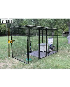 8' X 16' Ultimate 7' Tall Wire Kennel (Powder-Coated)