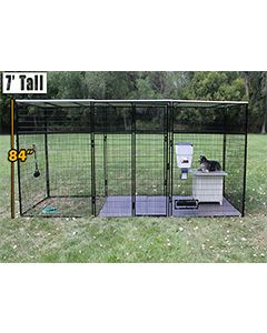 6' X 24' Ultimate 7' Tall Wire Kennel (Powder-coated)