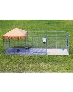 6' X 24' Ultimate Dog Kennel Pro (Galvanized)