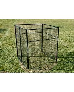 6' X 6' Basic 7' Tall Wire Kennel (Powder-Coated)