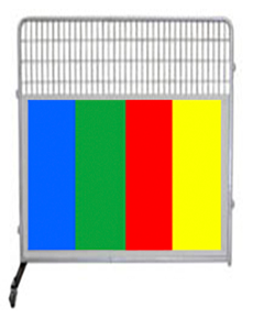 6' Kennel PRO Partition/Room Divider Panel W/ Color