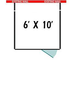 6' X 10' Three Sided Basic 7' Tall Wire Dog Kennel