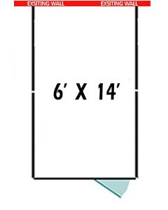 6' X 14' Three Sided Basic 7' Tall Wire Dog Kennel