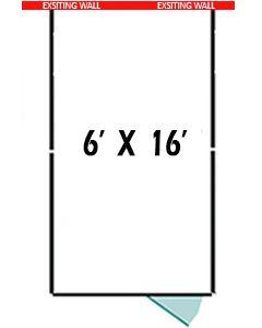 6' X 16' Three Sided Basic 7' Tall Wire Dog Kennel