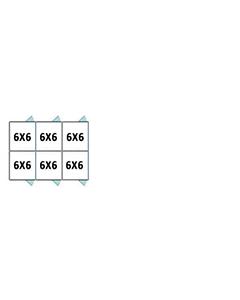 6' X 6' Multiple Standard Back To Back Dog Kennels x3