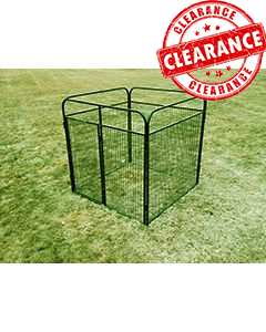 6' x 6' Standard Powder-Coated Kennel (CLEARANCE)