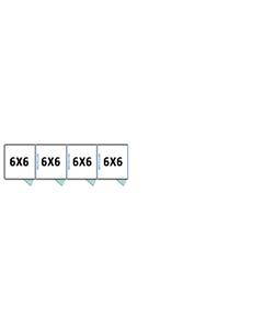 6' X 6' Multiple 7' Tall Full Stall Dog Kennels x4