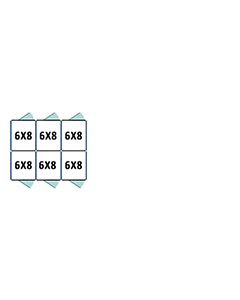 6' X 8' Multiple Standard Back To Back Dog Kennels x3