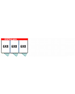 6' X 8' Multiple PRO No Back Dog Kennels x3