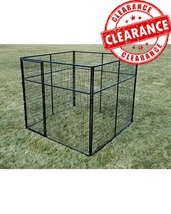 8' x 8' 7' Tall Powder-Coated Kennel (CLEARANCE)