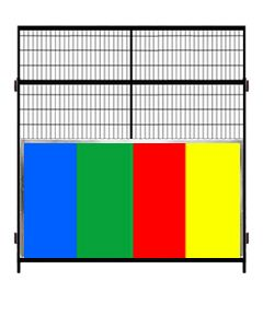 7' Tall Welded Wire Panels With Color Anti-Fight