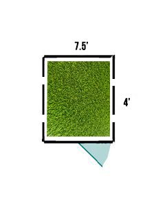 7.5' X 4' K9 Kennel Turf System
