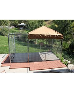 8' X 10' Ultimate Dog Kennel Pro (Galvanized)