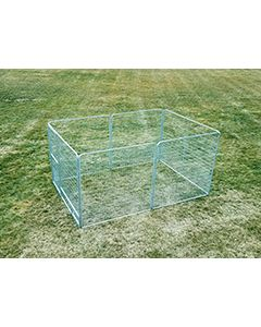 8' X 12' Basic Dog Kennel Pro (Galvanized)