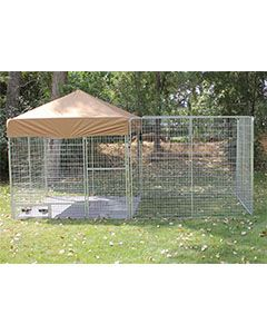 8' X 12' Ultimate Dog Kennel Pro (Galvanized)