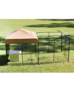 8' X 16' Complete Standard Kennel (Powder-Coated)
