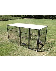 8' X 16' Complete 7' Tall Dog Kennel (Powder-Coated)
