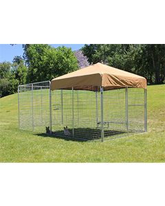 8' X 16' Ultimate Dog Kennel Pro (Galvanized)