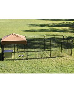 8' X 24' Complete Standard Kennel (Powder-Coated)