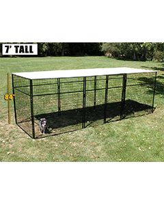 8' X 24' Complete 7' Tall Dog Kennel (Powder-Coated)
