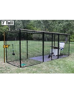 8' X 24' Ultimate 7' Tall Wire Kennel (Powder-Coated)