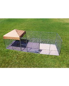 8' X 24' Ultimate Dog Kennel Pro (Galvanized)