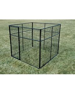 8' X 8' Basic 7' Tall Wire Kennel (Powder-Coated)