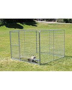 8' X 8' Basic Dog Kennel Pro (Galvanized)