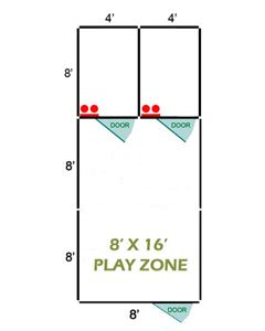 8' X 16' Basic Playzone W/Multiple 4' X 8' PRO Dog Kennels X2