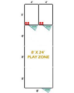 8' X 24' Basic Playzone W/Multiple 4' X 8' PRO Dog Kennels X2